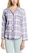 Cyberjammies Women's Violet Checkered Pyjama Top