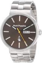 Hush Puppies Men's HP.3792M.1517 Signature Silver Stainless Steel Band Watch.