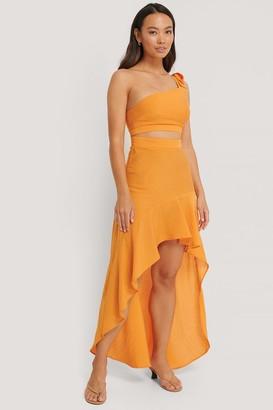 The Fashion Fraction X NA-KD One Shoulder Flowy Maxi Dress