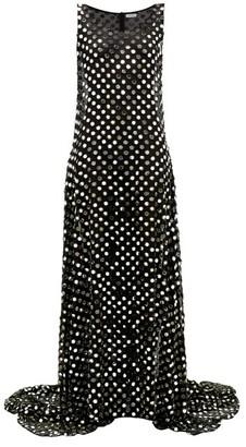 Ashish Laxmi Mirrorwork Georgette Gown - Black