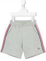 Moncler striped trim shorts - kids - Cotton - 4 yrs