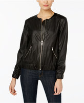 MICHAEL Michael Kors Perforated Faux-Leather Bomber Jacket