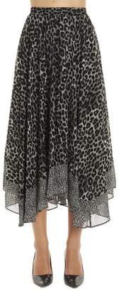 MICHAEL Michael Kors Leopard Printed Handkerchief Skirt