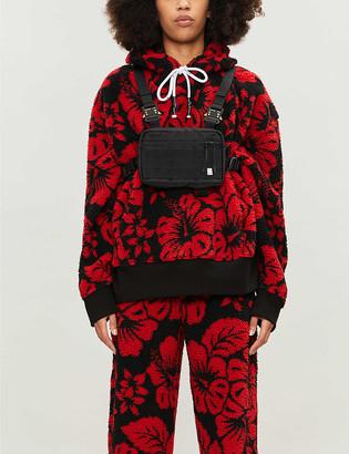 Palm Angels Floral-print teddy hoody