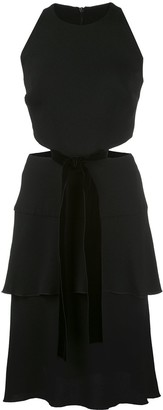 Proenza Schouler Cut-Out Bow Tie Dress