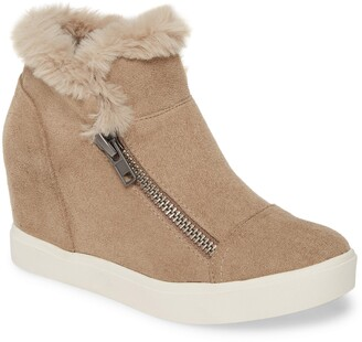 Coconuts by Matisse Later Days Faux Fur Wedge Sneaker