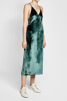 J Brand Velvet Gown with Silk