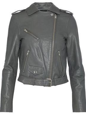 b43cc149fb52 Muubaa Biker Leather Jacket - ShopStyle UK