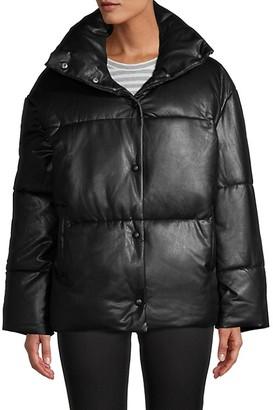 AVEC LES FILLES Faux Leather Jacket