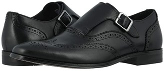 Florsheim Jetson Wing Tip Single Monk Strap (Black Smooth) Men's Shoes