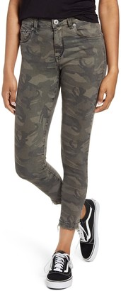 STS Blue Ellie Camo Print High Rise Ankle Skinny Jeans