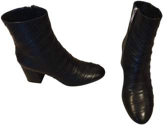 Sonia Rykiel \N Black Leather Ankle boots
