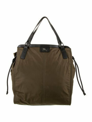 Burberry Nylon Buckleigh Tote Olive