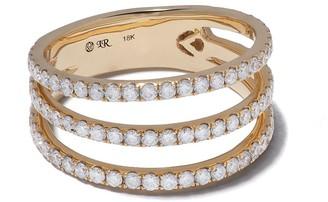 Loree Rodkin 18kt Yellow Gold Triple Pave Diamond Band Ring