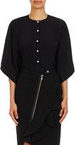 Givenchy Women's Silk Kimono-Sleeve Blouse-BLACK