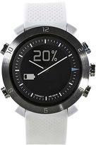 Asstd National Brand Cogito Classic White Silicone Strap Analog/Digital Smartwatch