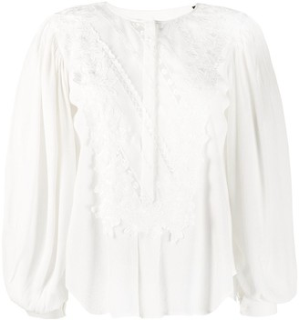 Isabel Marant Londrina embroidered blouse