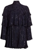 Alexis Latanya Leopard Print Tiered Shift Dress