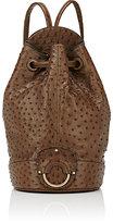 Ghurka Women's Ostrich Backpack-BEIGE