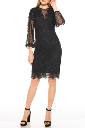 Alexia Admor Bubble Sleeve Lace Dress