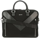 Diesel 'Mr V-Brief' briefcase - men - Leather/Polyamide - One Size