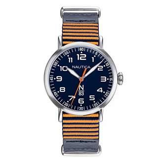 Nautica N83 Men's NAPWLS901 Wakeland Leather Strap Watch