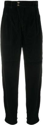 Etro High-Waisted Velvet Trousers