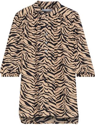Rebecca Minkoff Fleur Zebra-print Crepe Blouse