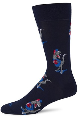 Marcoliani Milano Basketball Dinosaur Cotton Socks