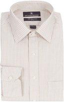 Hart Schaffner Marx Non-Iron Classic-Fit Spread Collar Checked Dress Shirt