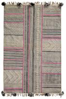 Karma Living Boho Stonewashed Block Printed Hand-Loomed Cotton Rug
