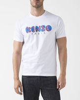 Kenzo White Crew Neck T-Shirt with Logo