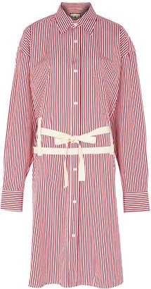 Plan C Striped cotton shirt dress