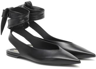 Burberry Howe leather slingback ballet flats