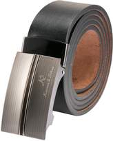 K&S KS Men's Dress Genuine Leather Belt Sliding Automatic Alloy Buckle KB033