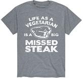 Instant Message Mens Men's Tee Shirts ATHLETIC - Athletic Heather 'Missed Steak' Tee - Men