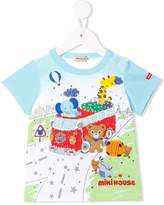Mikihouse Miki House patchwork T-shirt