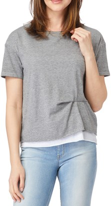C&C California Riley Salt Wash Double Layer T-Shirt