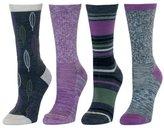 Kirkland Signature Ladies Outdoor Trail Sock, Extra Fine Merino Wool Blend, Lavender, 4pk