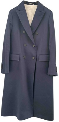 Calvin Klein Navy Cotton Trench Coat for Women