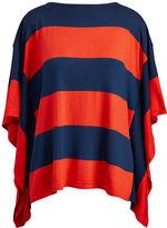 Ralph Lauren Striped Cotton-Blend Poncho