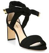 Nicholas Kirkwood Ziggy Suede Ankle-Tie Sandals