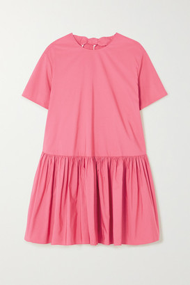 Valentino Cotton-blend Poplin Mini Dress - Pink
