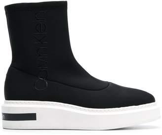 Calvin Klein Jeans neoprene boots