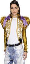 DSQUARED2 Embroidered Duchesse & Velvet Jacket