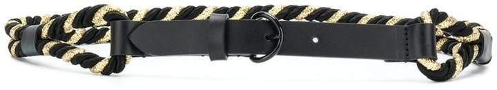 Philosophy di Lorenzo Serafini contrast woven belt