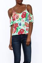 Everly Courtney Cold Sholder Floral Top