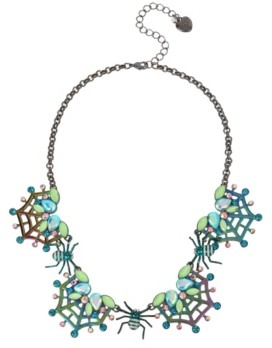 Betsey Johnson Spider Web Frontal Necklace