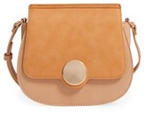Sole Society Rowen Faux Leather Crossbody Bag - Brown