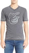 Red Jacket 'Baltimore Orioles - Calumet' Graphic V-Neck T-Shirt